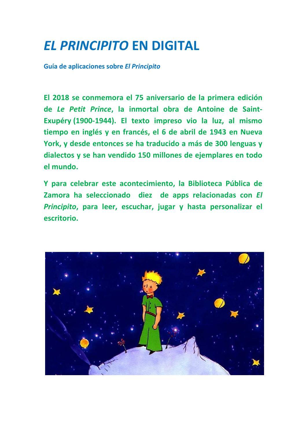 El Principito En Digital By Lucía Domínguez Issuu