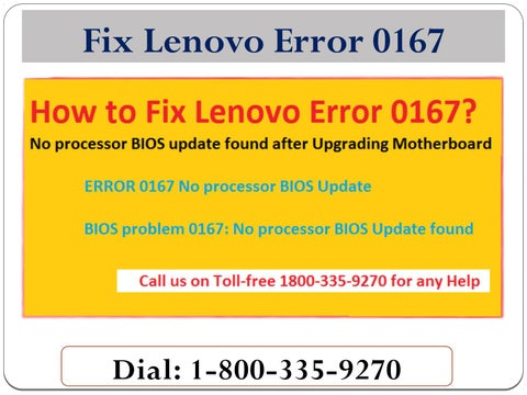 1-800-335-9270 Fix Lenovo Error 0167