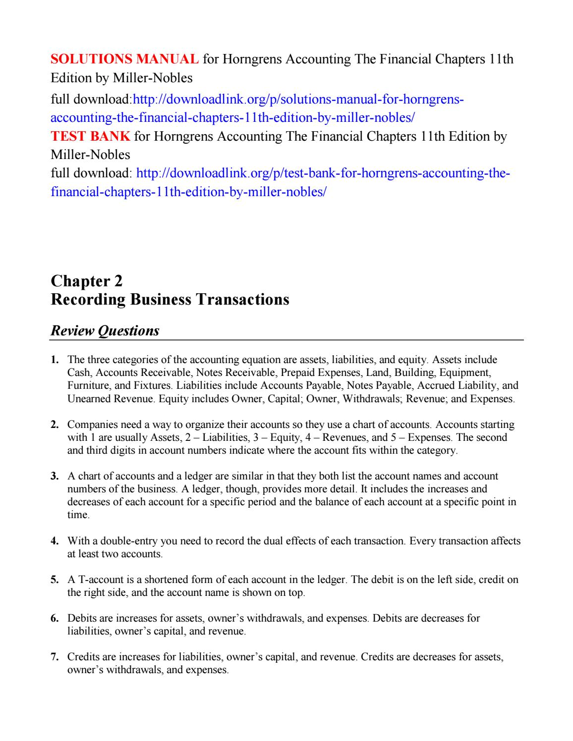 solutions manual for horngrens accounting the financial chapters rh issuu com financial accounting for executives and mbas 3rd edition solution manual financial accounting for mbas 4th edition solutions manual