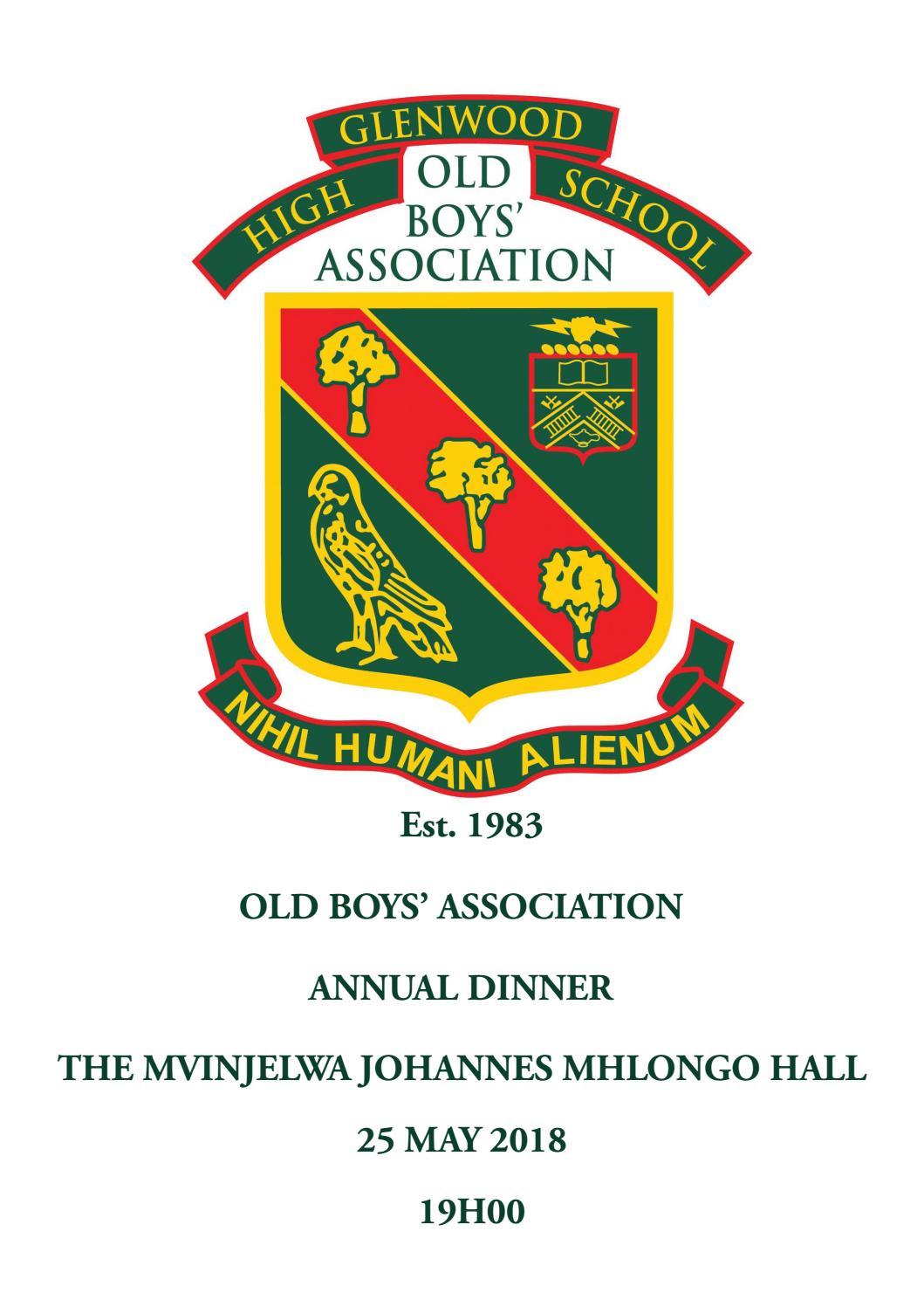 Old boys association programme 2018 by Glenwood High School