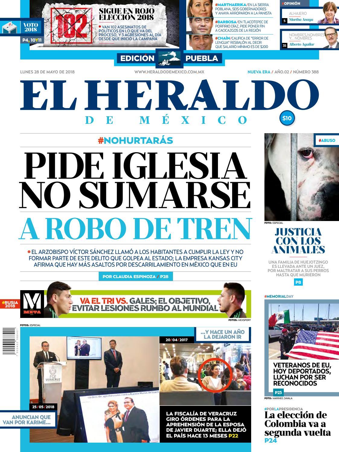 f3a9f0b65a2fe 28 de mayo de 2018 Edición Puebla by El Heraldo de México - issuu