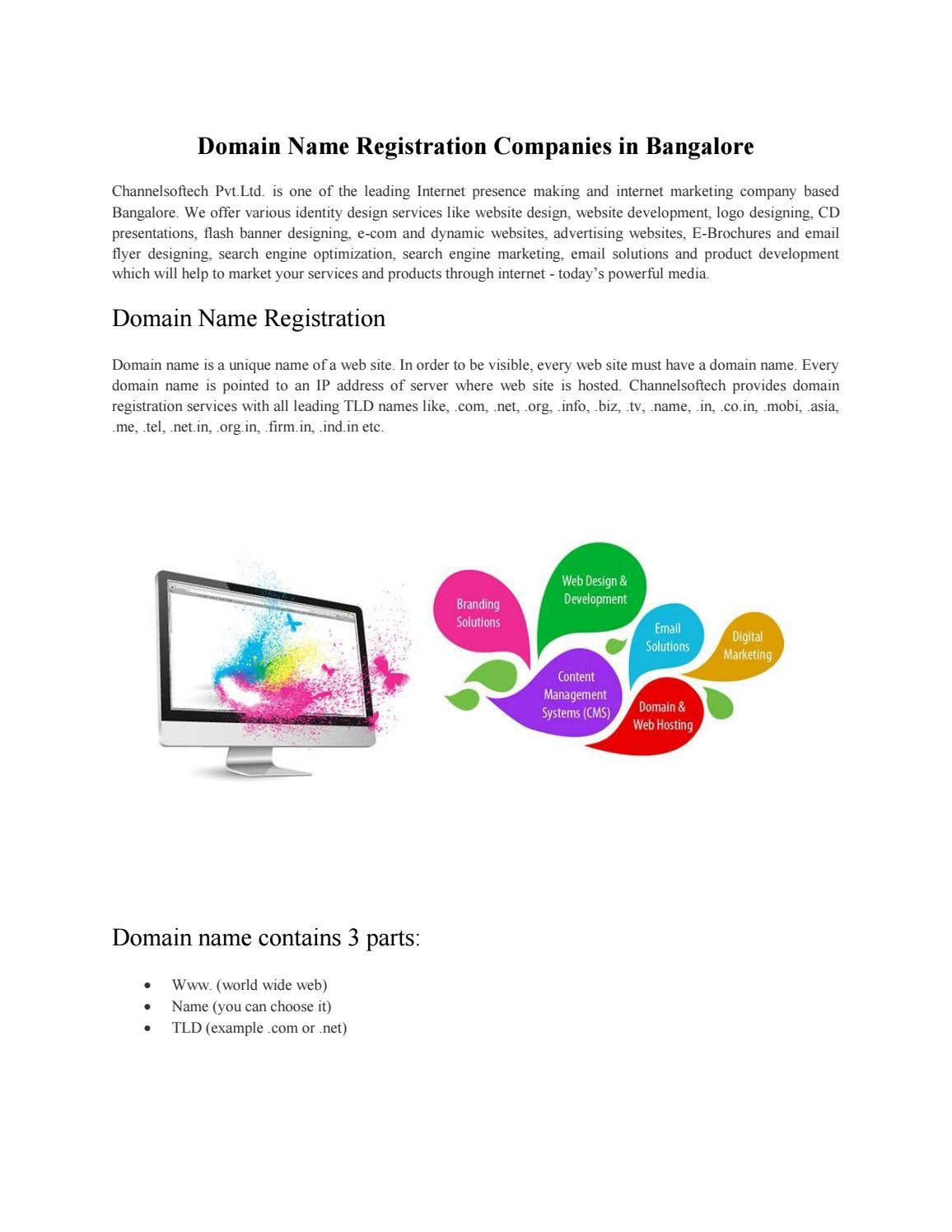 Domain Name Registration Companies in Bangalore by Channelsoftech
