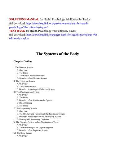 Health Psychology Shelley Taylor 8th Edition Pdf