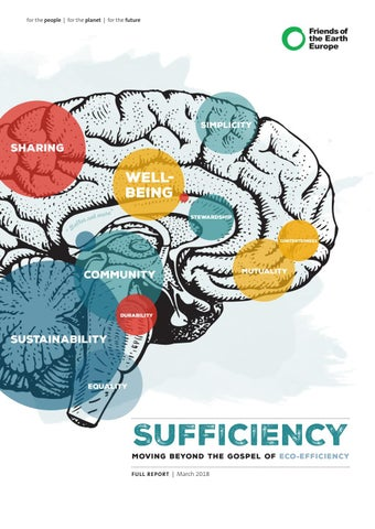 Sufficiency Moving Beyond The Gospel Of Eco Efficiency By