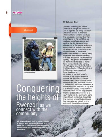 Page 8 of Rwenzori, a scenic encounter to rejuvenate our mind