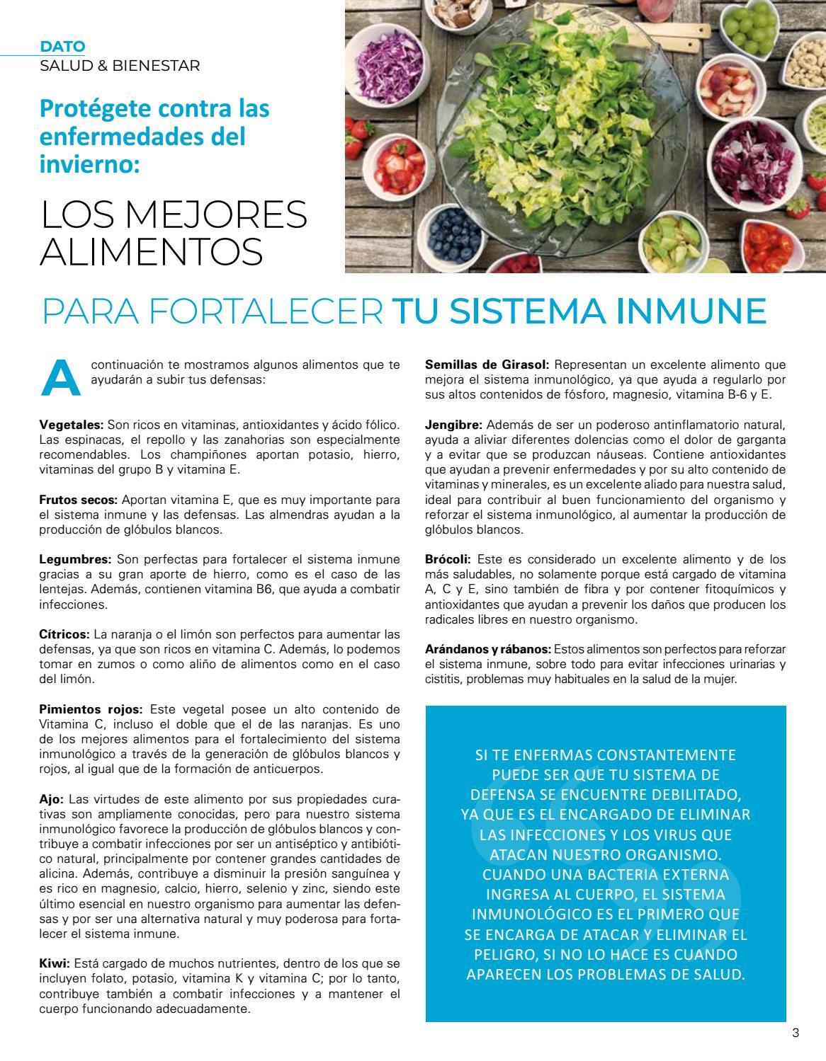 Sistema las inmunologico subir del alimentos para defensas