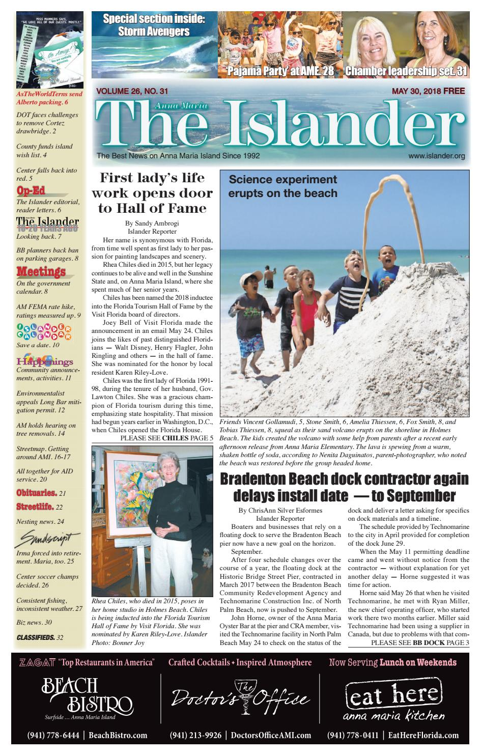 The Islander Newspaper E-Edition: Wednesday, May 30, 2018 by The Anna Maria  Islander Newspaper - issuu