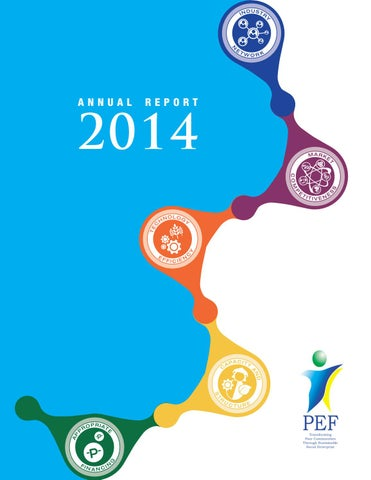 PEF Annual Report 2014 By AX Digital Palette Designs Issuu