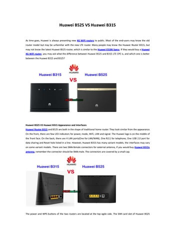 Huawei B618 firmware online and locally update guide by Lte Mall - issuu