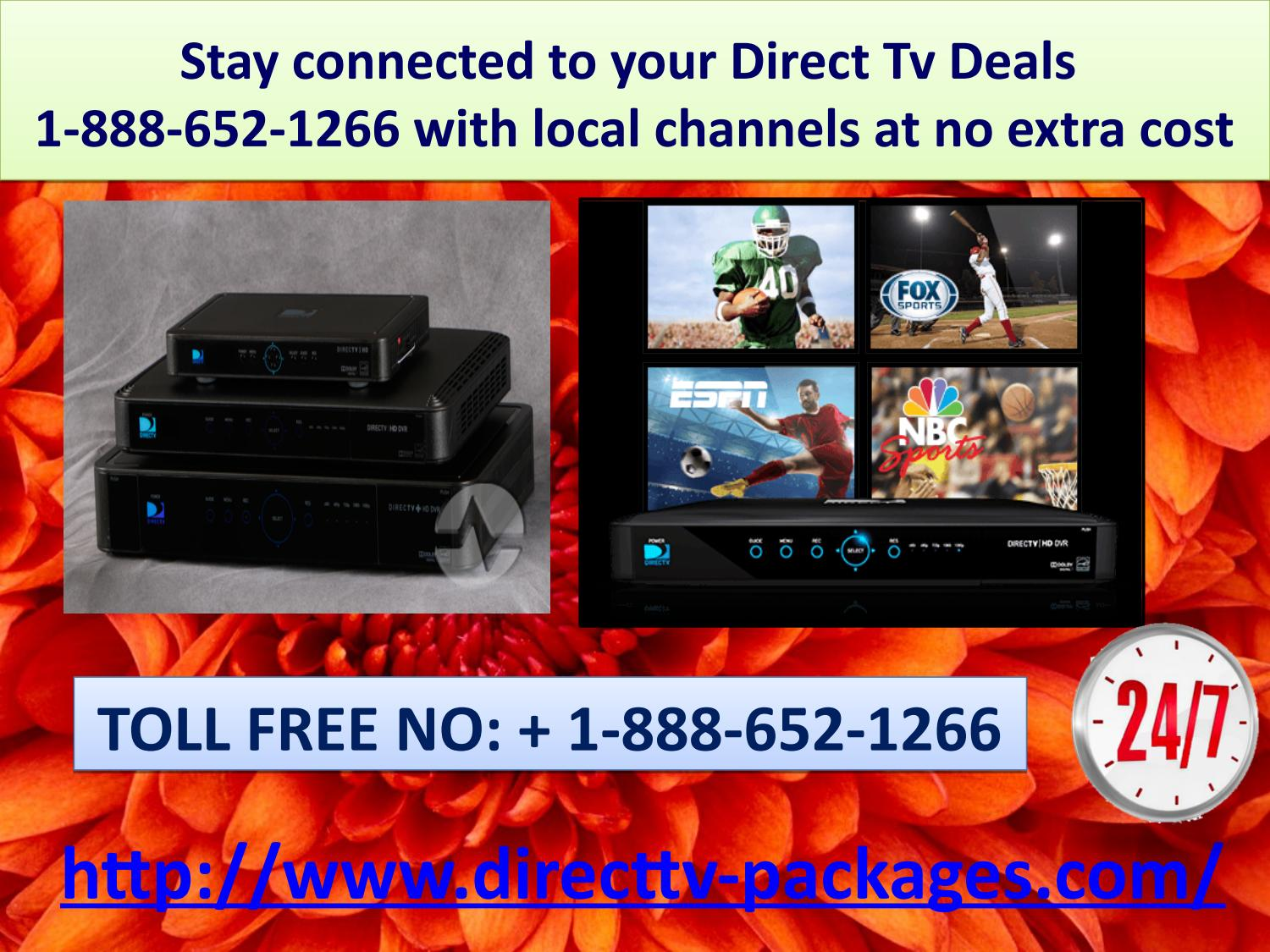 Stay connected to your Direct Tv Deals 1-888-652-1266 with