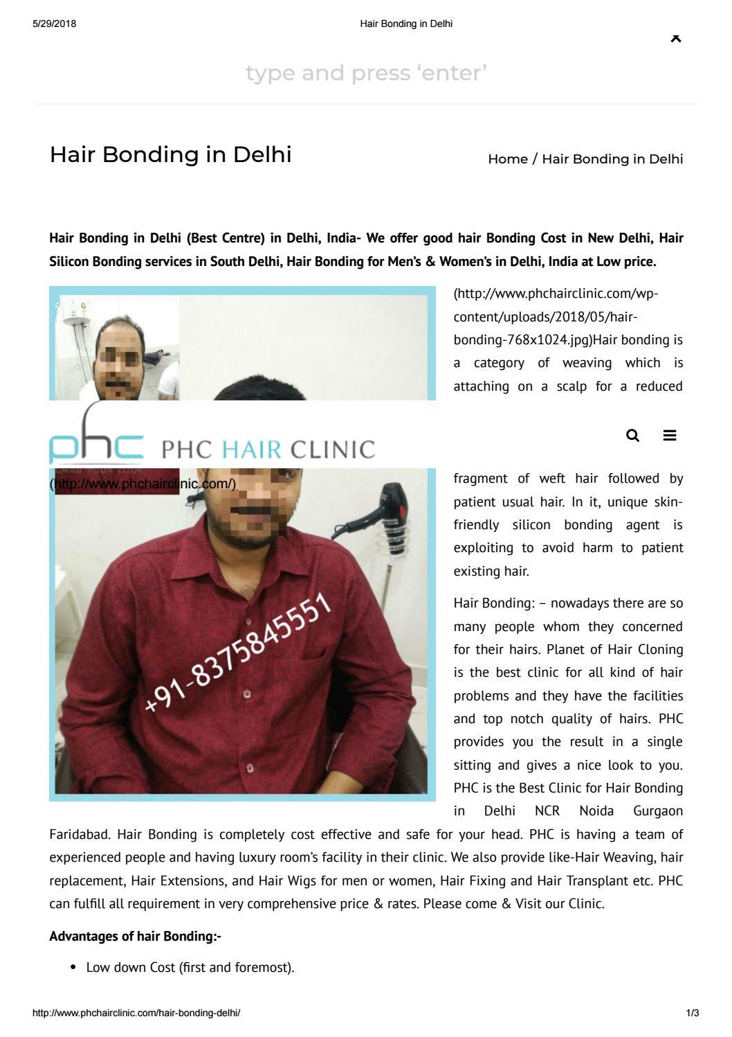 Hair Bonding In Delhi By Sunil Khanna Issuu