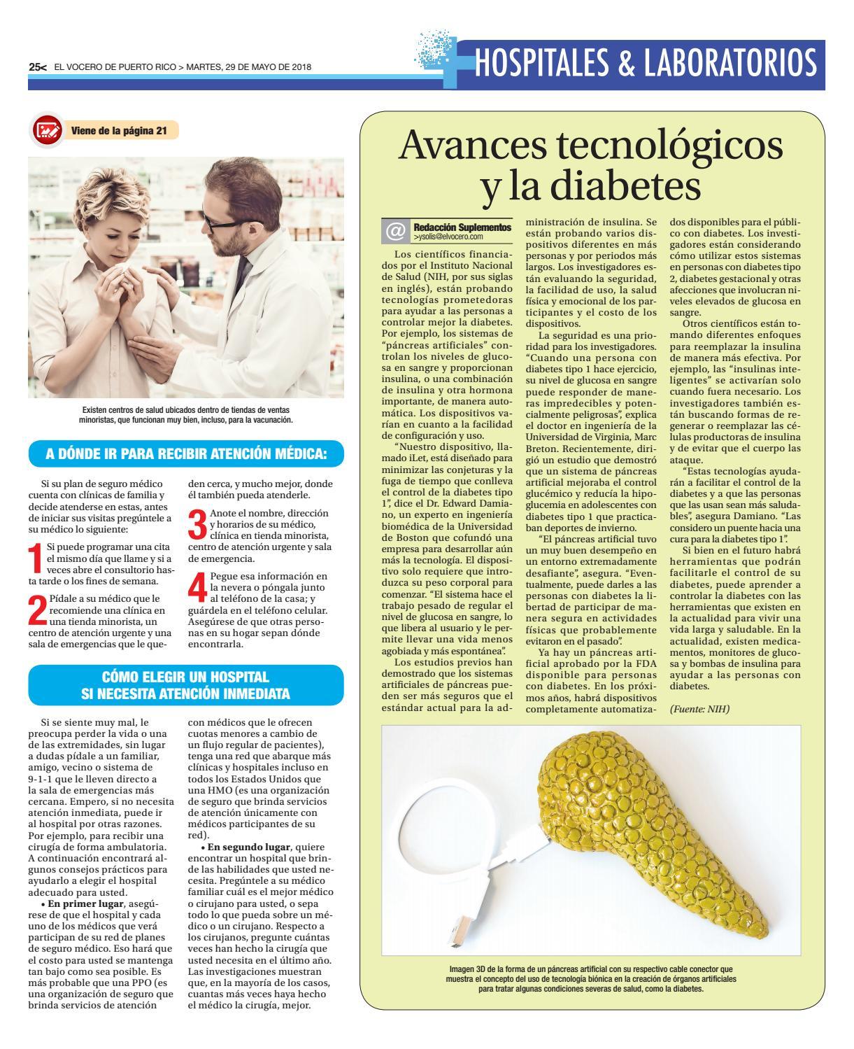 el páncreas artificial muestra diabetes