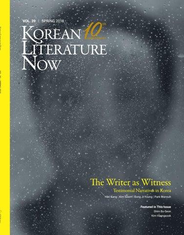 b9f45e52ce4fd Korean Literature Now  Vol.39 Spring 2018 by LTI Korea Library - issuu
