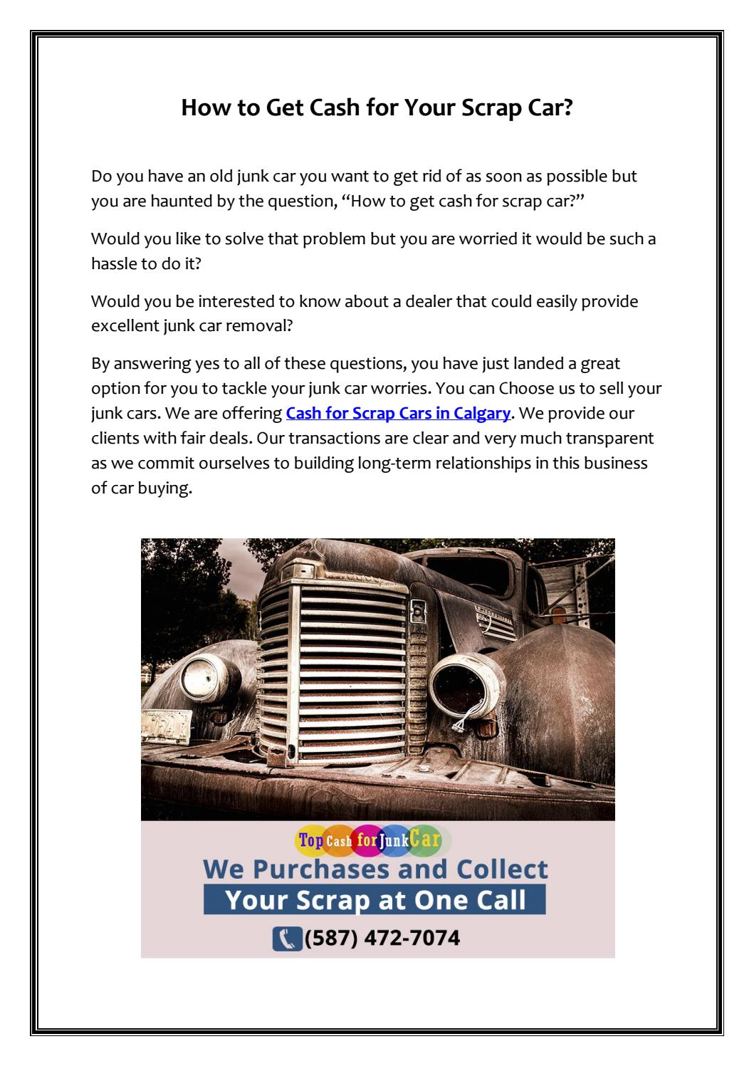 Cash for Scrap Cars in Calgary by Top Cash for Junk Car - issuu