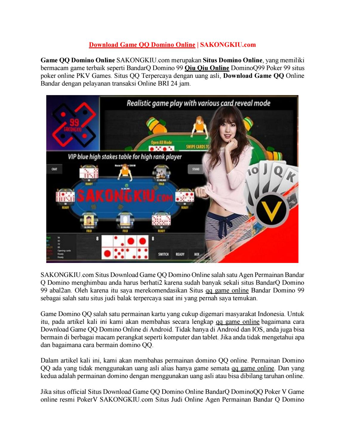 Download Game Qq Domino Online Sakongkiu Com By Poker Domino 99 Issuu