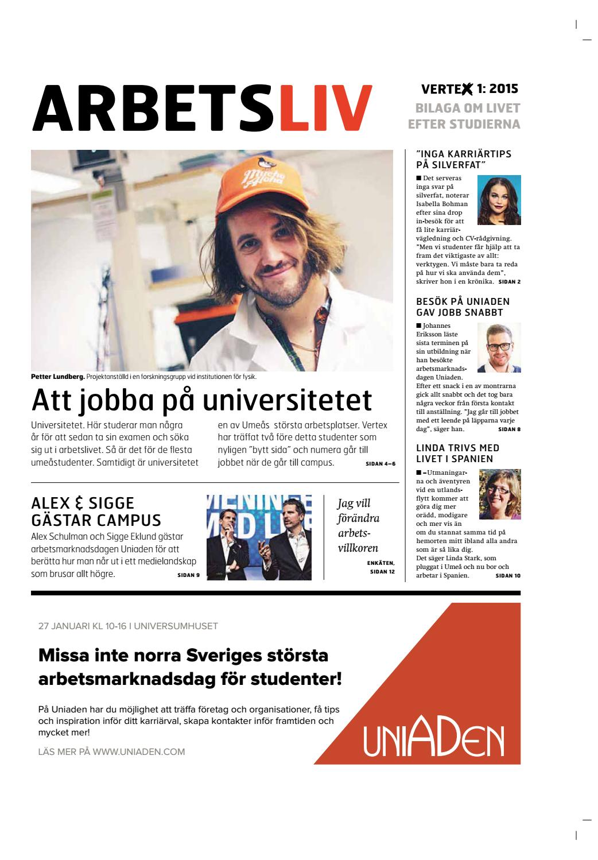 b8233692e5eb Vertex nr 1 2015 - Bilaga by Vertex, studenttidningen - issuu