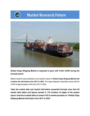 Global cargo shipping market by belsareankita - issuu