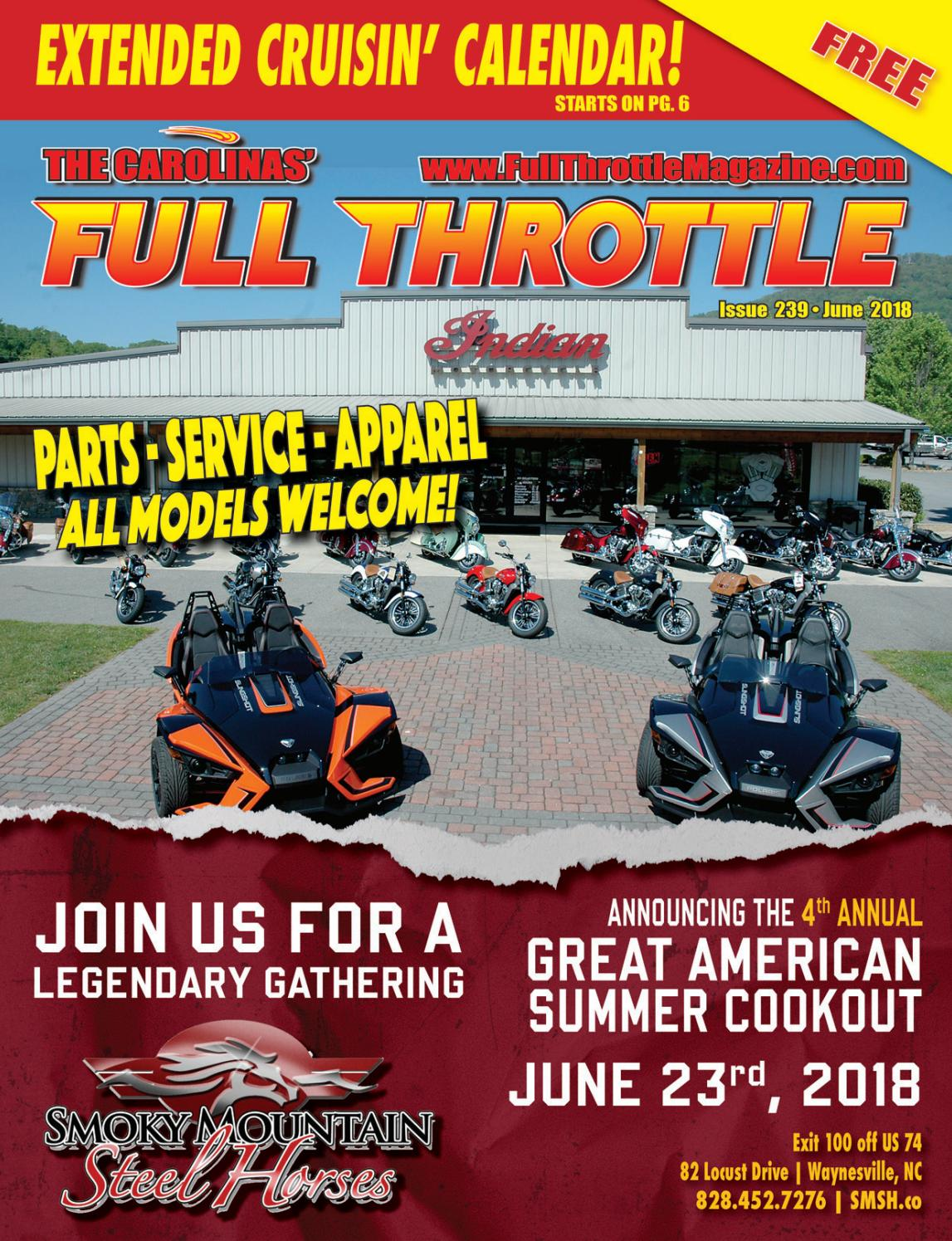 June 2018 - Issue 239 by The Carolinas' Full Throttle