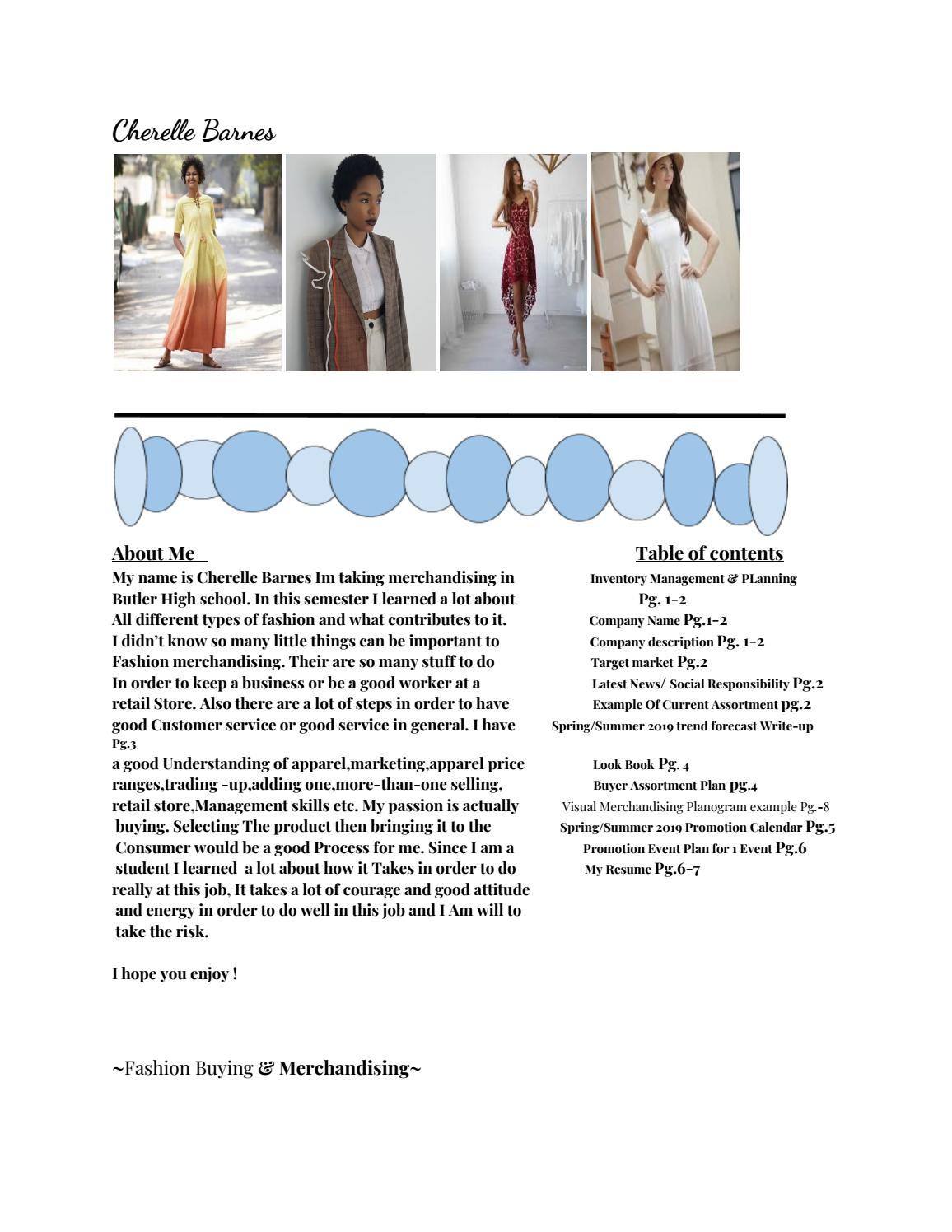 Fashion merchandising by student571 - issuu