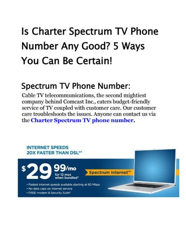 Is Charter Spectrum Tv Phone Number Any Good By My Cable Internet Issuu