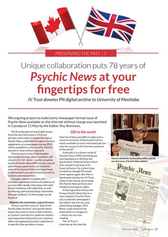 psychic news june 2018 free story psychic news archives go online