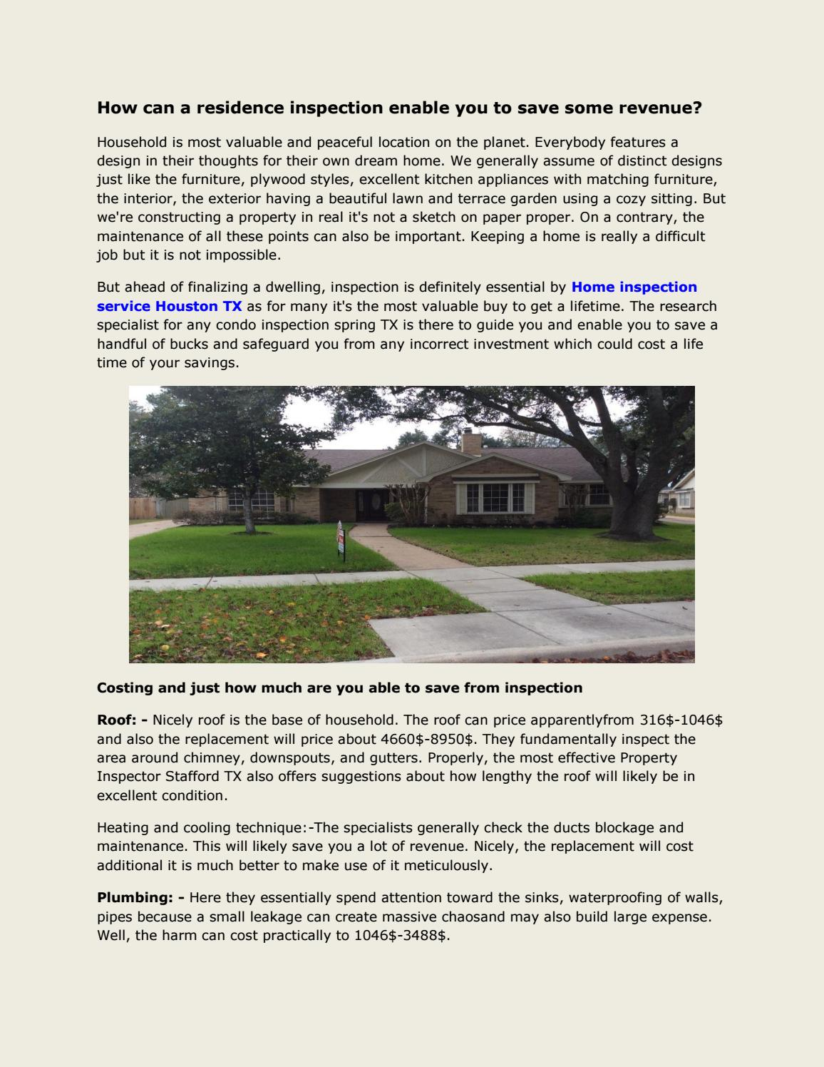 Condo inspection the woodlands tx by Home inspection ...