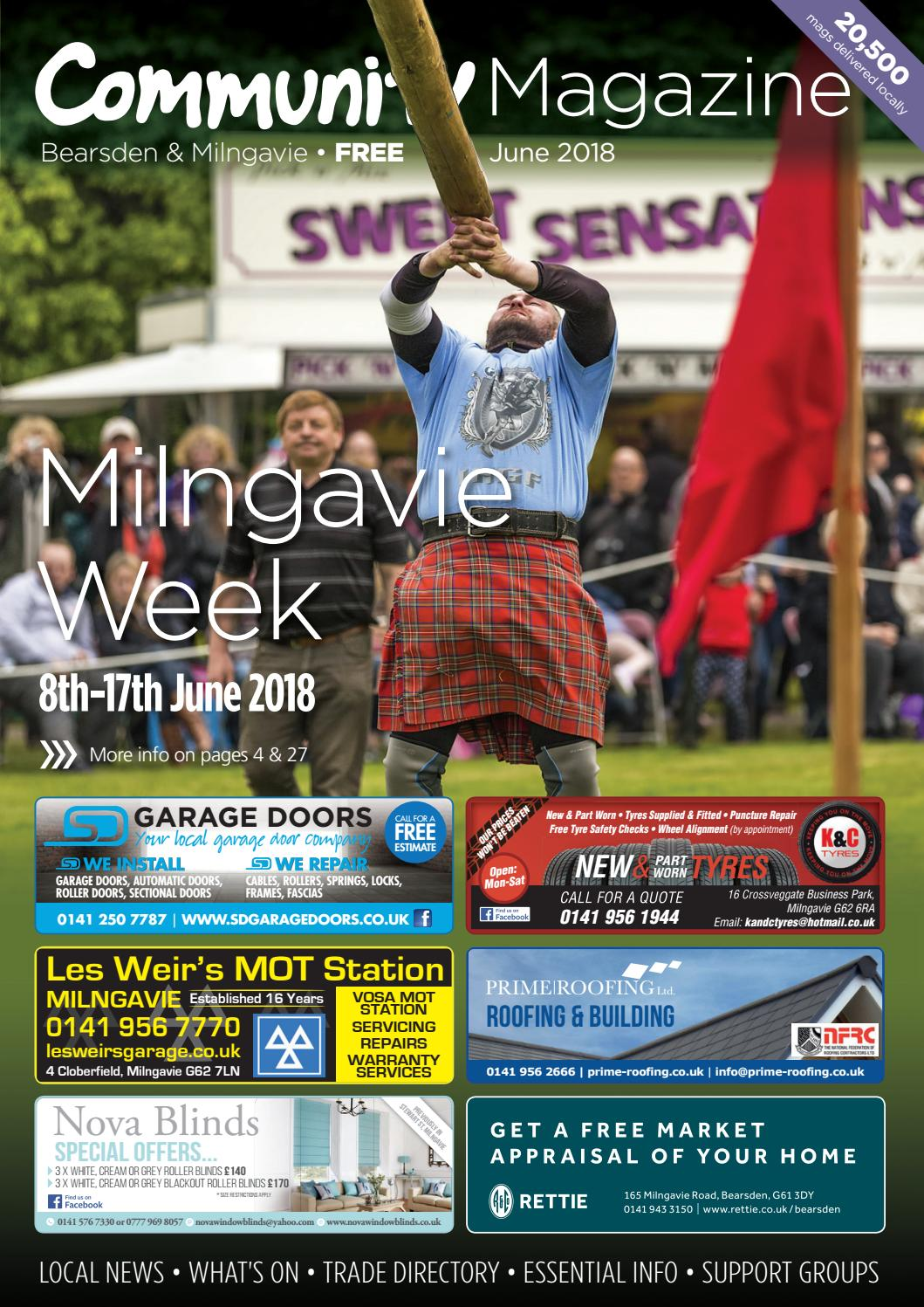 Bearsden Amp Milngavie Community Magazine June 2018 By