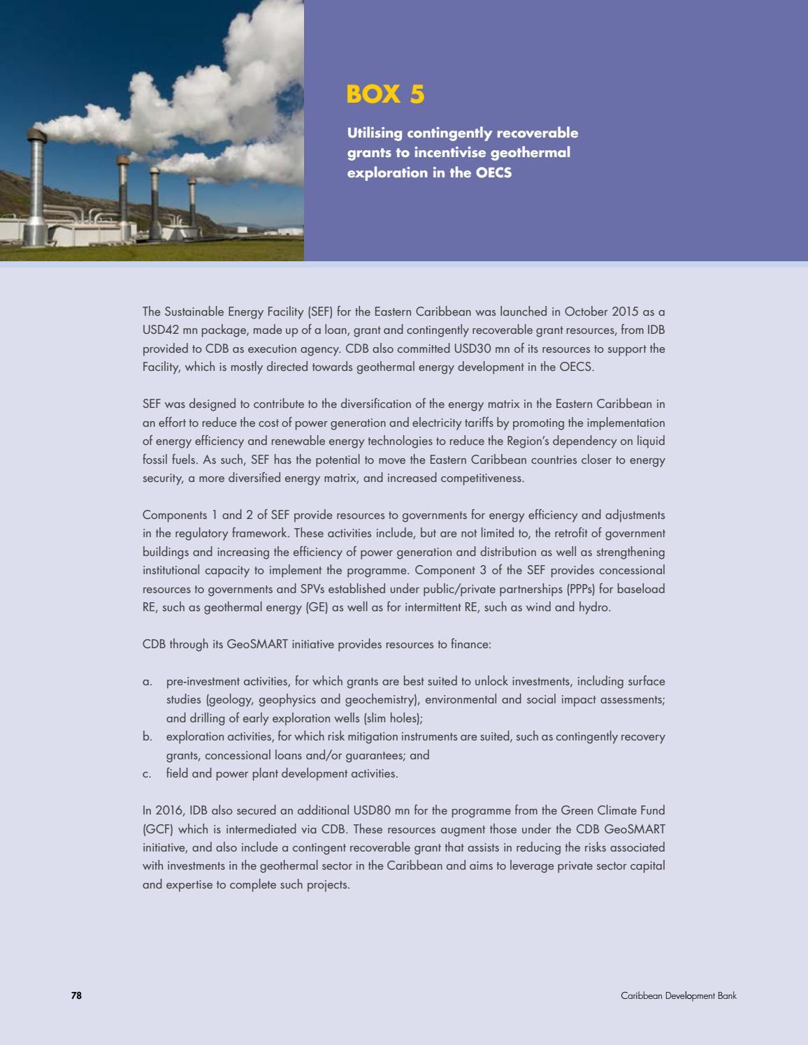 Op Een Bankje Sef.Financing The Blue Economy A Caribbean Development Opportunity By