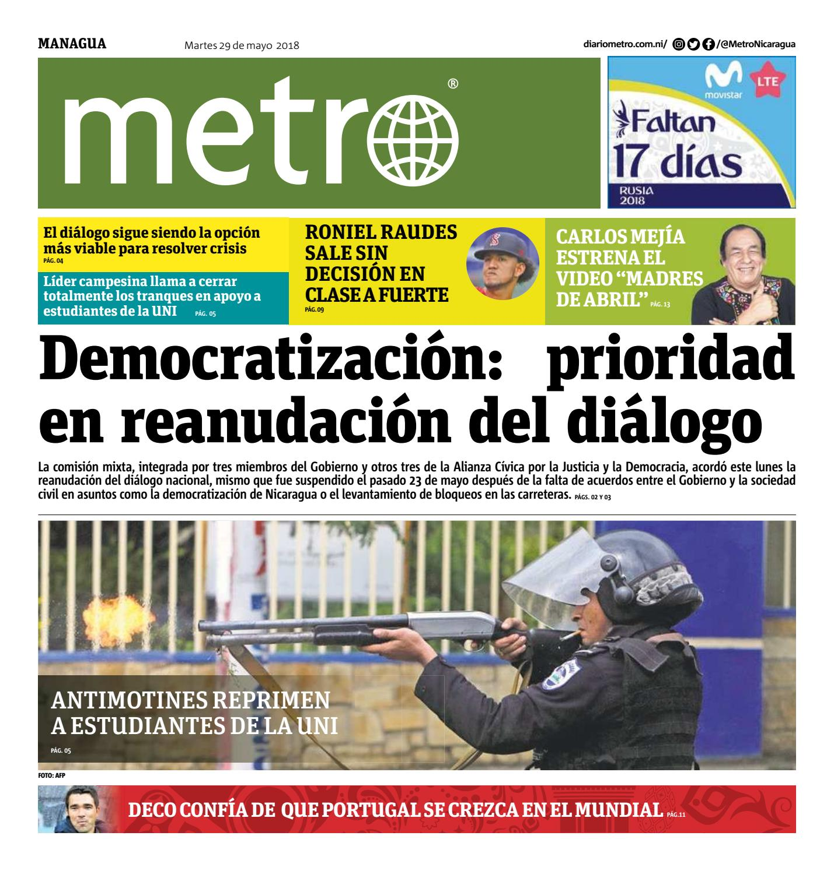 Managua 2018 05 29 by Metro Nicaragua - issuu