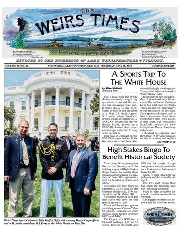 05/31/18 Weirs Times by The Weirs Publishing Company - issuu