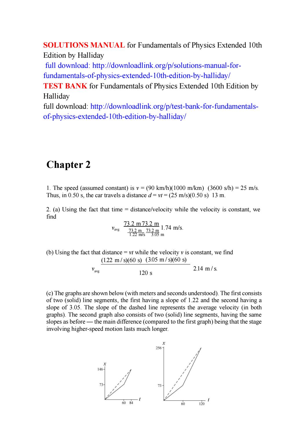 Solutions manual for fundamentals of physics extended 10th edition by  halliday by Cruz222 - issuu