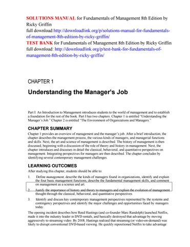 Fundamentals Of Management 8th Edition Pdf Griffin
