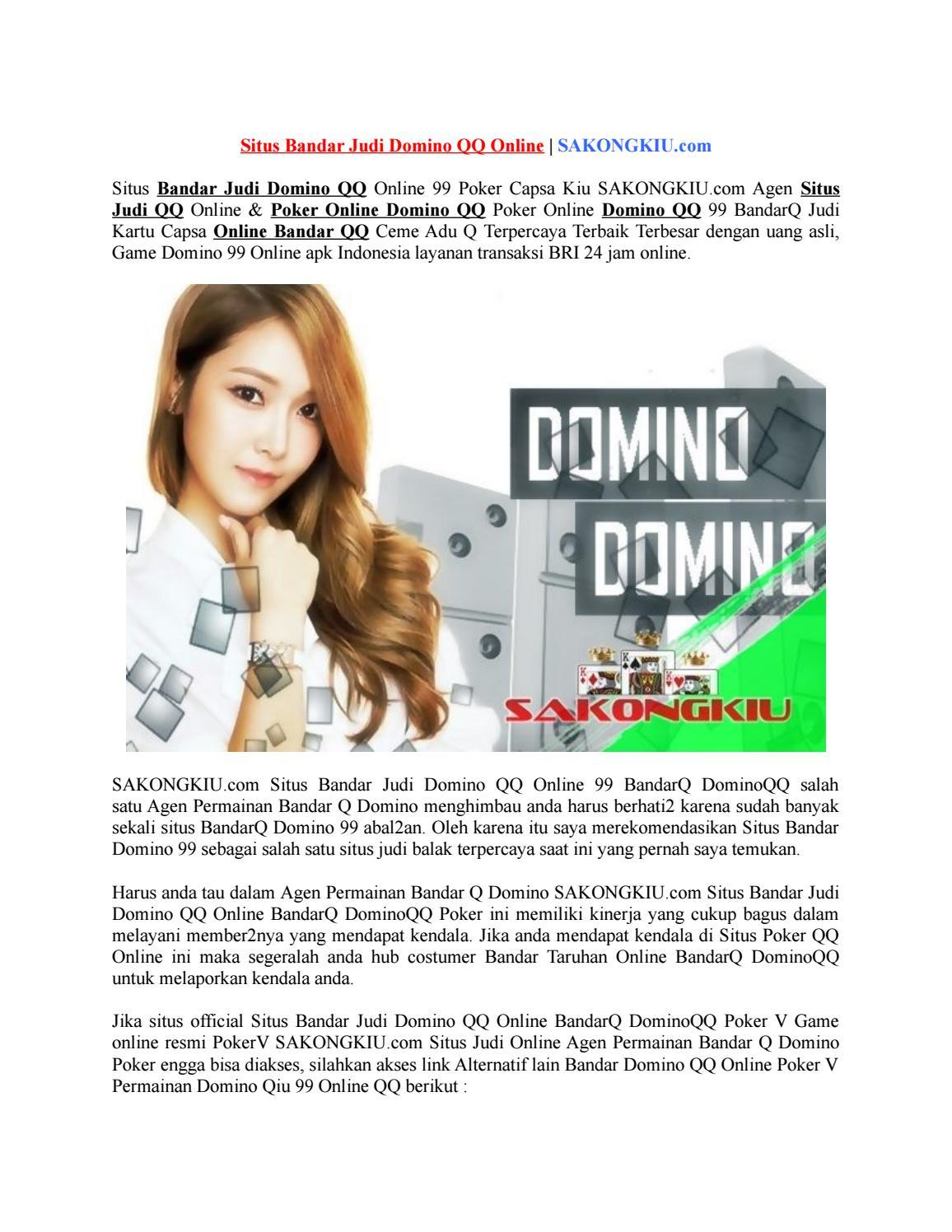 Situs Bandar Judi Domino Qq Online Sakongkiu Com By Una Luna Issuu
