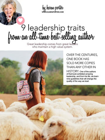Page 12 of 9 Leadership Traits from an All-Time Best-Selling Author by Karen Porter