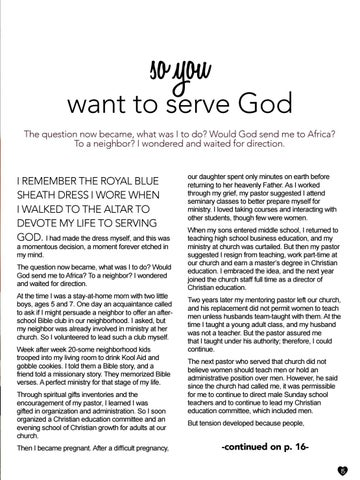 Page 15 of So You Want to Serve God? by Shirley Brosius