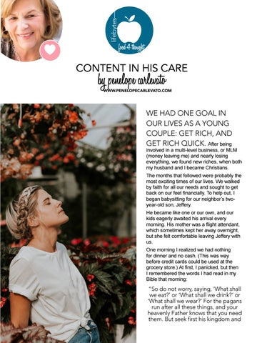 Page 30 of Content in His Care by Penelope Carlevato
