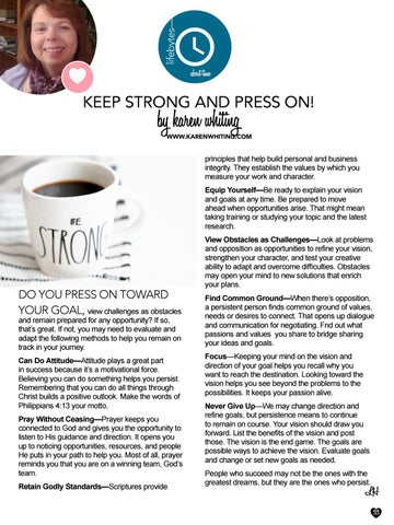 Page 33 of Keep Strong and Press On by Karen Whiting