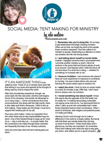 Page 35 of Social Media: Tentmaking for Ministry by Edie Melson