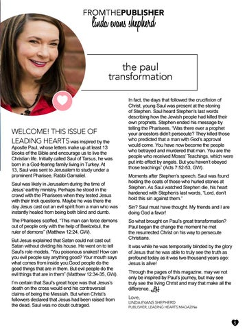 Page 3 of The Paul Transformation by Linda Evans Shepherd