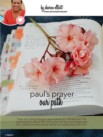 Page 50 of Paul's Prayer, Our Path by Sharon Elliott