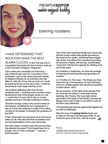 Page 7 of Training Roosters by Amber Weigand-Buckley