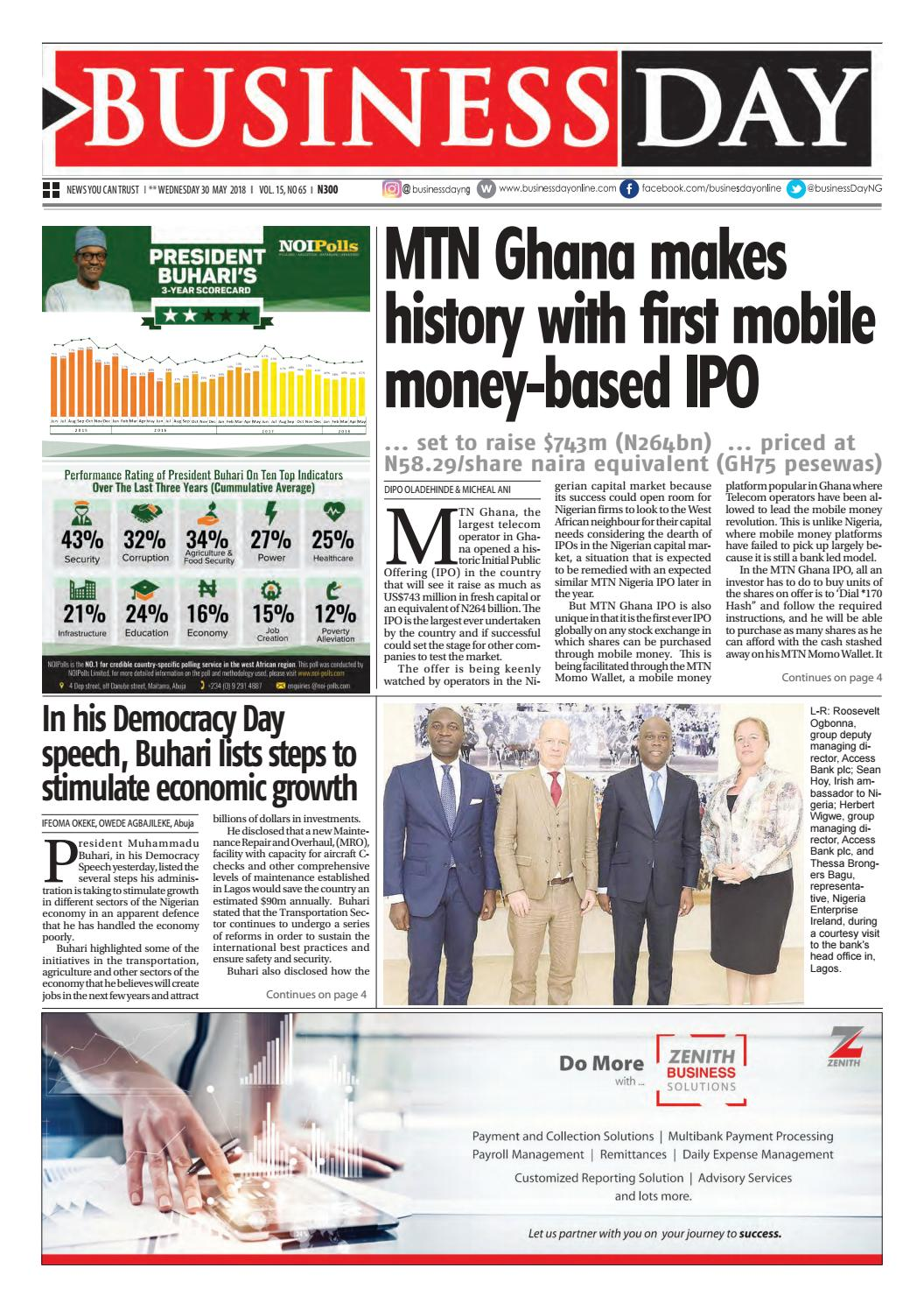 Businessday 30 may 2018 by BusinessDay - issuu