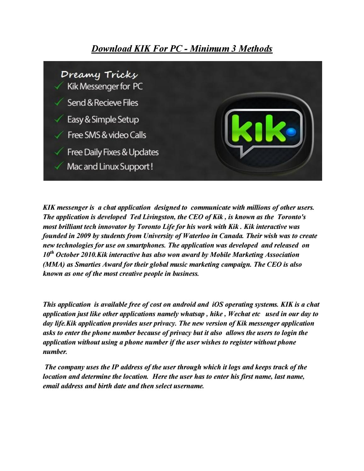 Kik for pc download latest version for windows 7810 by Anita