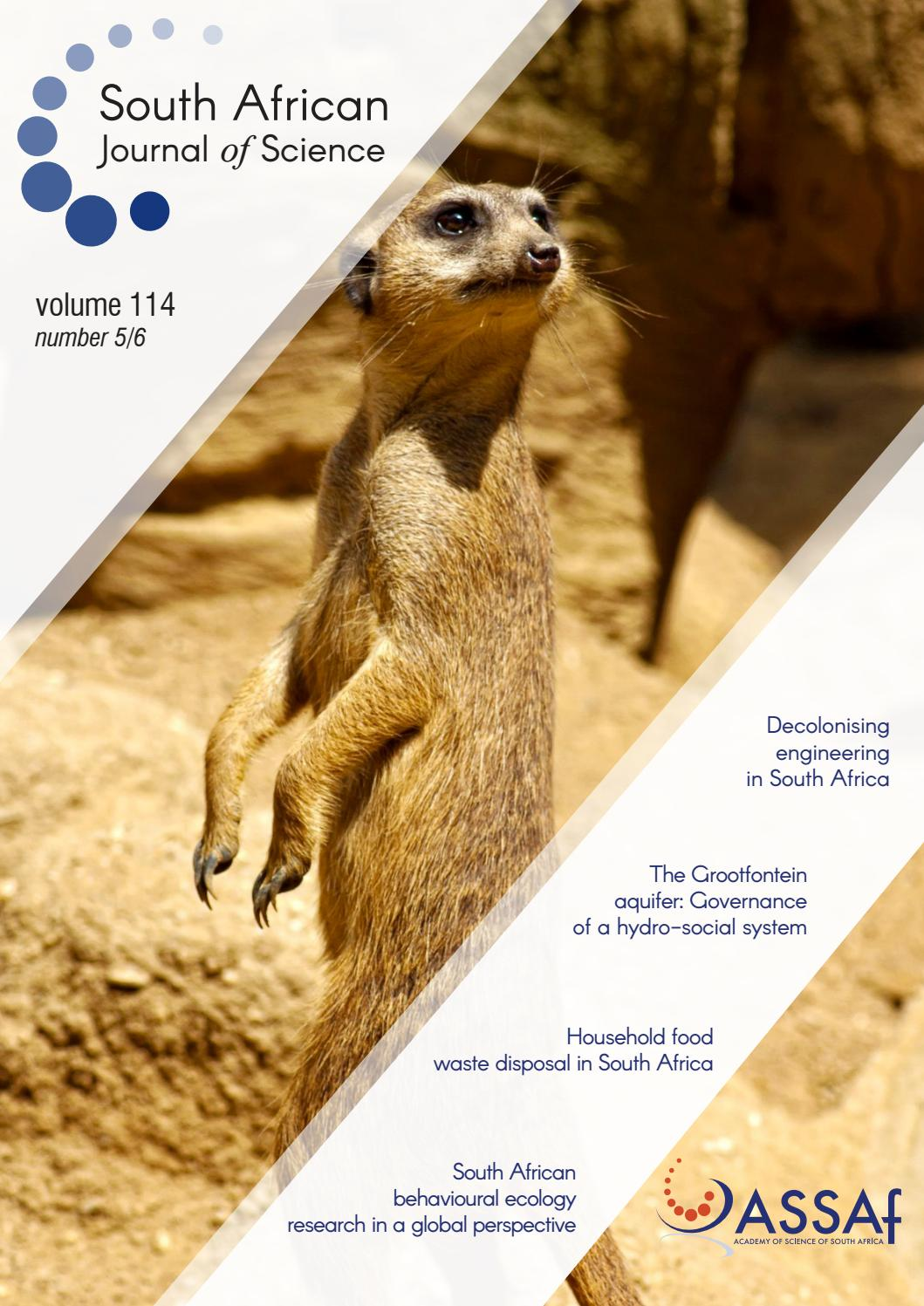 South African Journal of Science Volume 114 Issue 5/6 by South