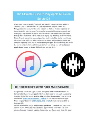 The Ultimate Guide to Play Apple Music on Serato DJ by nancy - issuu