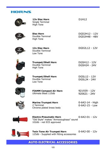 support de montage 12V volt universel high tone twin terminal disc horn /& fixation