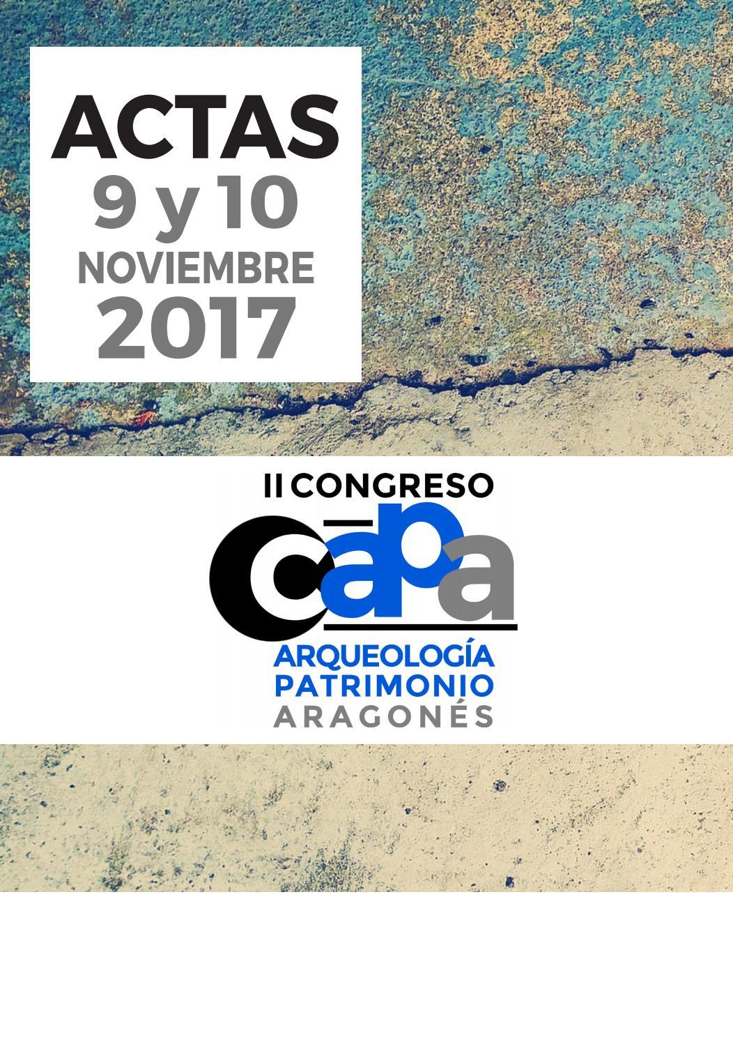 Actas II CAPA. Sesión 1. Prehistoria by CDL Aragón - issuu