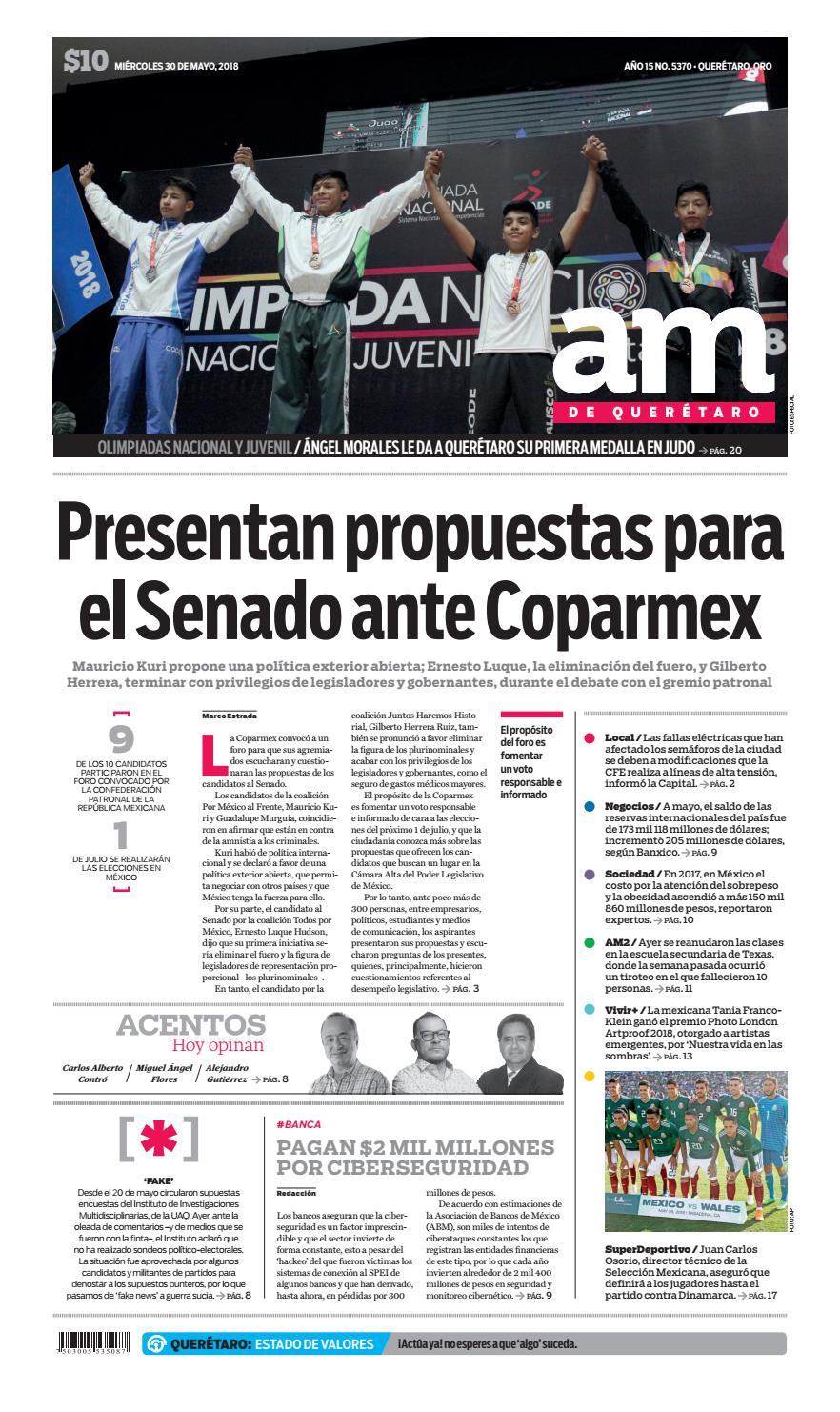 30 I 05 I 2018 by Periódico AM Queretaro - issuu