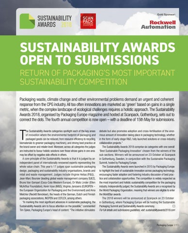 Page 13 of SUSTAINABILITY AWARDS OPEN TO SUBMISSIONS