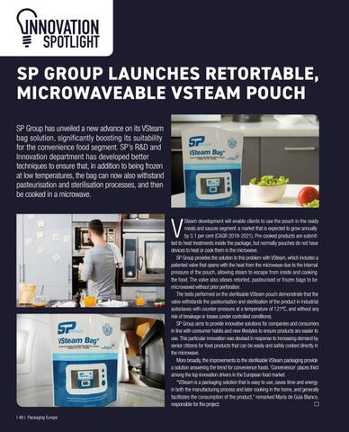 Page 50 of SP GROUP LAUNCHES RETORTABLE, MICROWAVEABLE VSTEAM POUCH